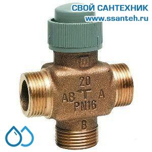 10194 Honeywell, V5833A4007 3-х ход. лин. клапан, PN16, 1/2,DN15, Kvs 1.6, on-off 2.5мм, 2…120 °C